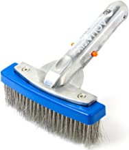 VGEBY Swimming Pool Cleaning Brush Steel Wire Bristle Pool Brush for Walls,Tiles Floors Curved Cleaning Brushes