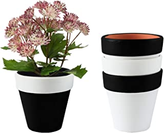 Plant Pots, Rosoli 3.55 Inch Clay Planters Set of 4 Flower Plant Pots Indoor Gardening Pots with Drainage Hole for Succulents, Flowers, African Violets, Cactus, Herbs and All House Plants …