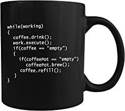 Coffee++ Program - Ceramic Coffee Mug - Makes a Great Gift for Programmers! (Black)