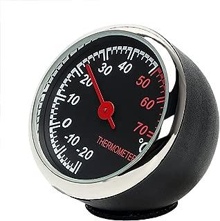 NOPNOG Décor Intérieur de Voiture Thermomètre Lumineux Tableau de Bord Ornement Bleu