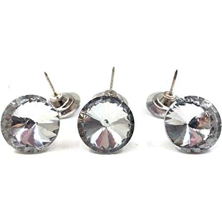 20pcs Diamond Crystal Upholstery Sofa Headboard Sew Buttons Wall Decor 30mm Dia