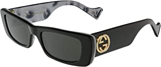 Gucci GG0516S Shiny Bilayer Black/White Mother-Of-Pearl/Grey Solid One Size
