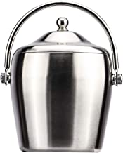 SBWFH Ice Bucket Well Made Insulated Stainless Steel Double Wall Keep Ice Frozen Longer (Size : Medium)