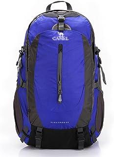 Mochilas de marcha Mochila de Montañismo 50L Mochila de Viaje Equitación Running Sports Backpack Hombres y Mujeres Aseguramiento de la Calidad Desgaste Repelente de Agua Capacidad 50L (Color : Azul)