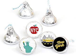 Big Dot of Happiness NYC Cityscape - New York City Party Round Candy Sticker Favors - Labels Fit Hershey's Kisses (1 Sheet...