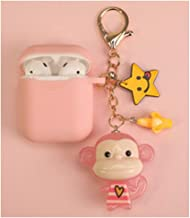Cartoon Monkey Silicone Case for Airpods Case Air Pods Accessories Earphone Headphone Protective Cover,Pink