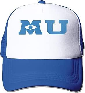 Classic Baseball Cap,Monsters University Merchandise Adjustable Two Tone Cotton Twill Mesh Back Trucker Hats Black