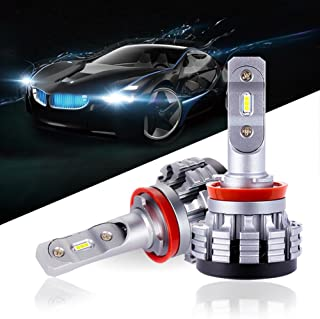 QENOS H11 LED Headlight Bulbs Super Bright Cool White Car with 2 Pcs of H11 headlight bulbs 60W 6000LM Edsion LED Chips - 2 Year Warranty