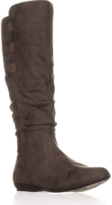 White Mountain Cliffs Felisa Flat Knee-High Boots, Brown, 7 US
