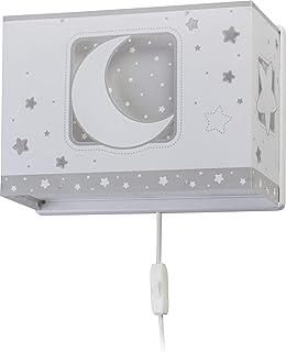 Dalber Moon Light Lámpara Aplique Pared infantil Luna y Estrellas Moonlight gris, 60 W