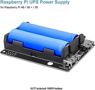 Innovateking-EU Raspberry Pi ups Gruppo di continuità ups Hat 18650 Caricabatteria Power Bank Alimentazione 5V per Raspberry Pi 4B / 3B + / 3B