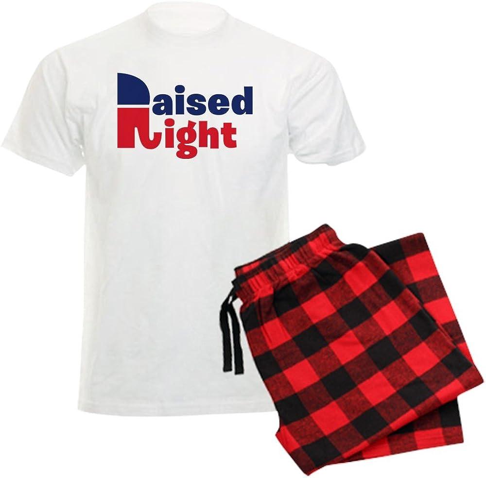 CafePress Raised Right Unisex Novelty Set Comfort Pajama Cotton Ranking TOP1 OFFicial shop