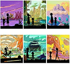 Jumant Rick and Morty Poster Set - 8x10 Inches UNFRAMED - Trippy Posters for Stoners - Rick and Morty Room Decor - Posters for Guys - Rick and Morty Wall Art - Cartoon Pictures Posters