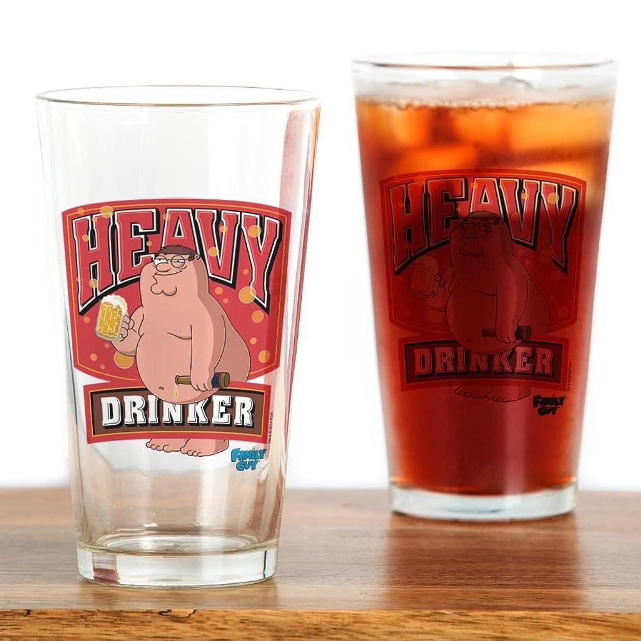 想像力豊かな斧つまらないCafePress?–?Family Guy Heavy Drinker?–?パイントガラス、16オンスDrinkingガラス クリア 145253578133332