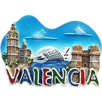 Imán 3D para nevera 3D con diseño de España realizado en resina, colección de viajes, ideal