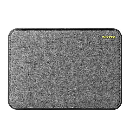 Incase ICON Sleeve Protective Case for Apple MacBook 12 Inch - Grey Mottled [TENSAERLITE Material I Faux Fur Interior I Magnetic Closure] - CL60649
