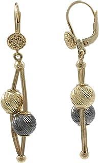 Gioiello Italiano - Orecchini in oro giallo con sfere diamantate