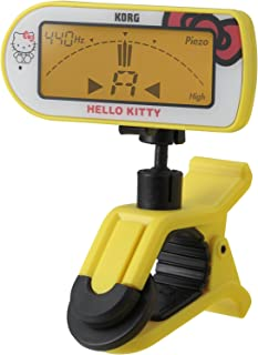 KORG コルグ ギター・ベース用 クリップ式チューナー Hello Kittyモデル 限定版 AW-2GK-YE イエロー