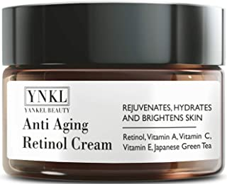 Retinol Cream - Anti Aging Cream for Eye area, Face and Neck - Made in USA - with Japanese Green Tea and Vitamin E - visibly diminish Fine Lines, Wrinkles and improve uneven Skin Tone