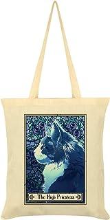 Deadly Tarot Felis - The High Priestess Tote Bag Cream 38 x 42cm