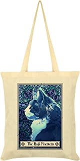 Deadly Tarot Felis - The High Priestess Tote Bag Cream 38 x 42cm
