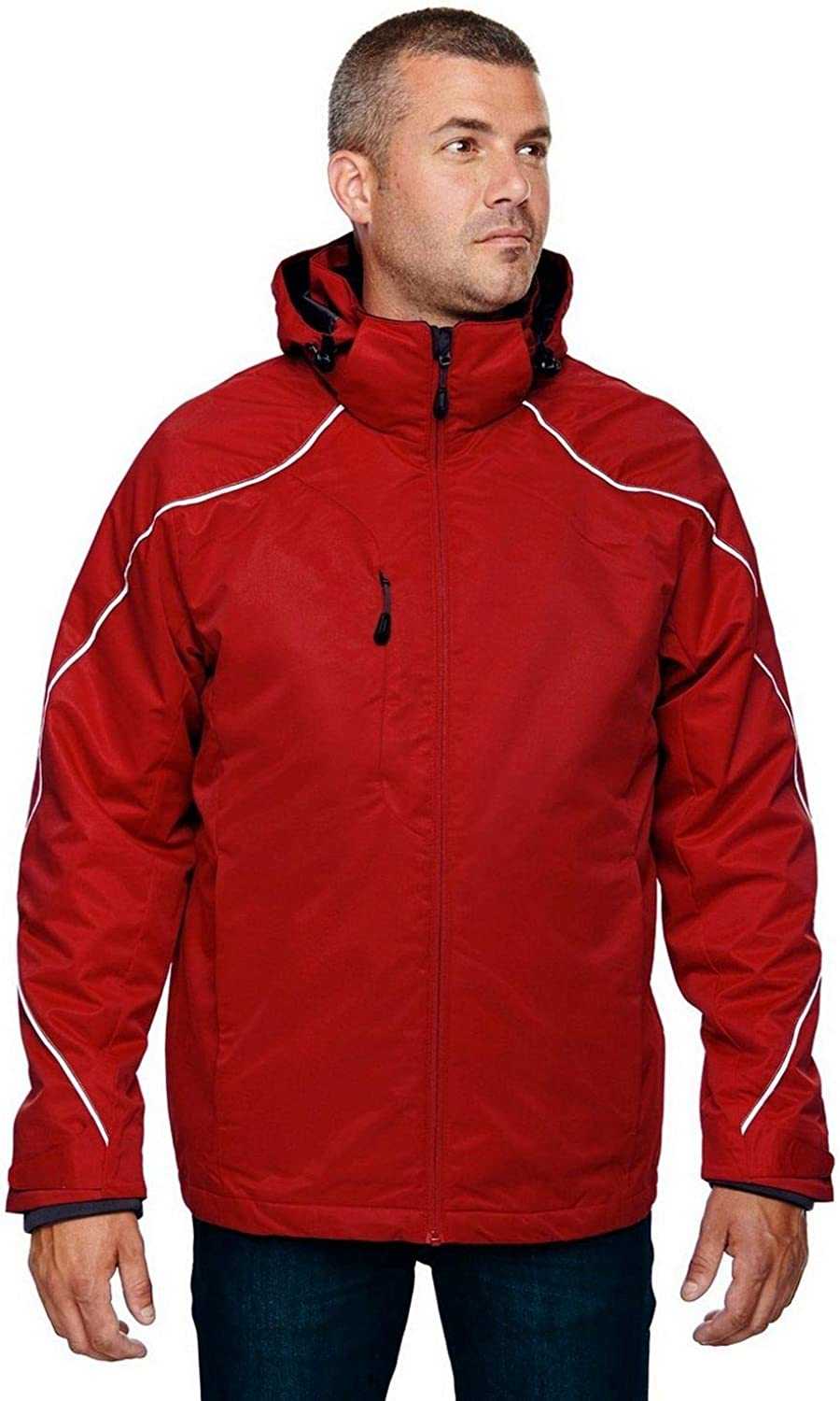 North End 3-In-1 Jacket With Bonded Fleece Liner (88196) -CLASSIC RED -4XL