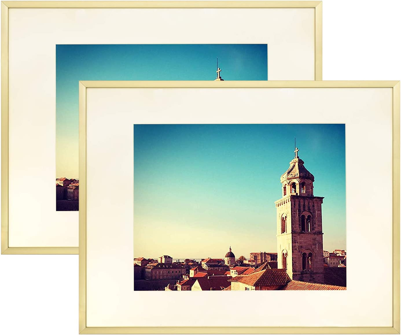 Golden State Art 11x14 Aluminum Metal Max 89% OFF Ma Color Reservation Frame with Ivory
