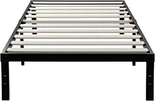 ZIYOO 14 Inch Wooden Slats Platform Bed Frame, 3500lbs Heavy Duty, Strengthen Support Mattress Foundation, Quiet Noise Free, Twin XL