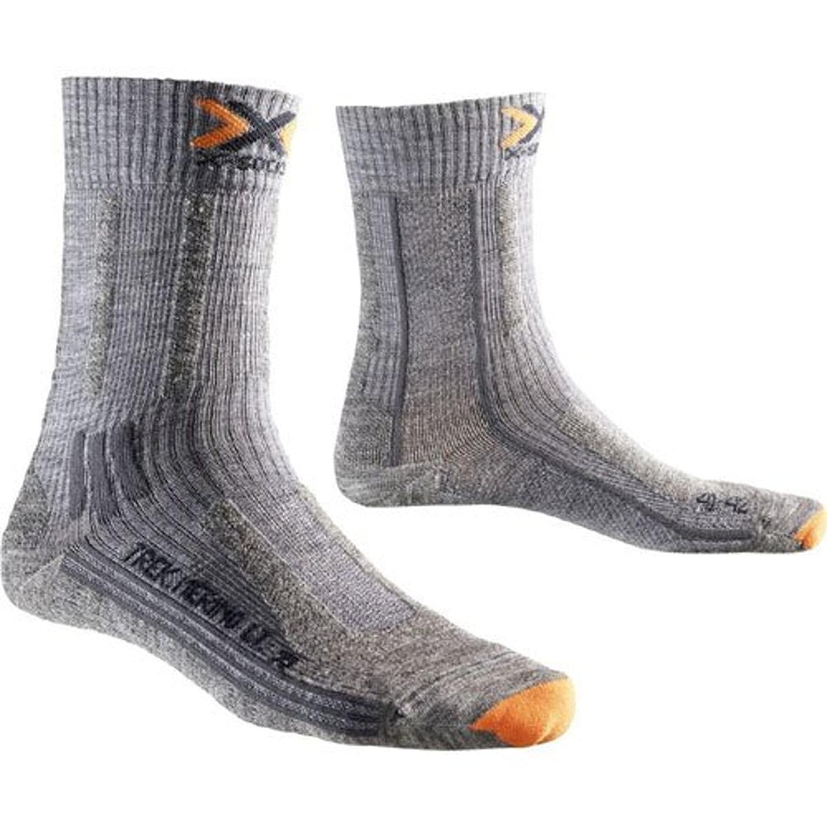 X-Socks Erwachsene Funktionssocken Trekking Merino Lady, Light Grey, 35/36
