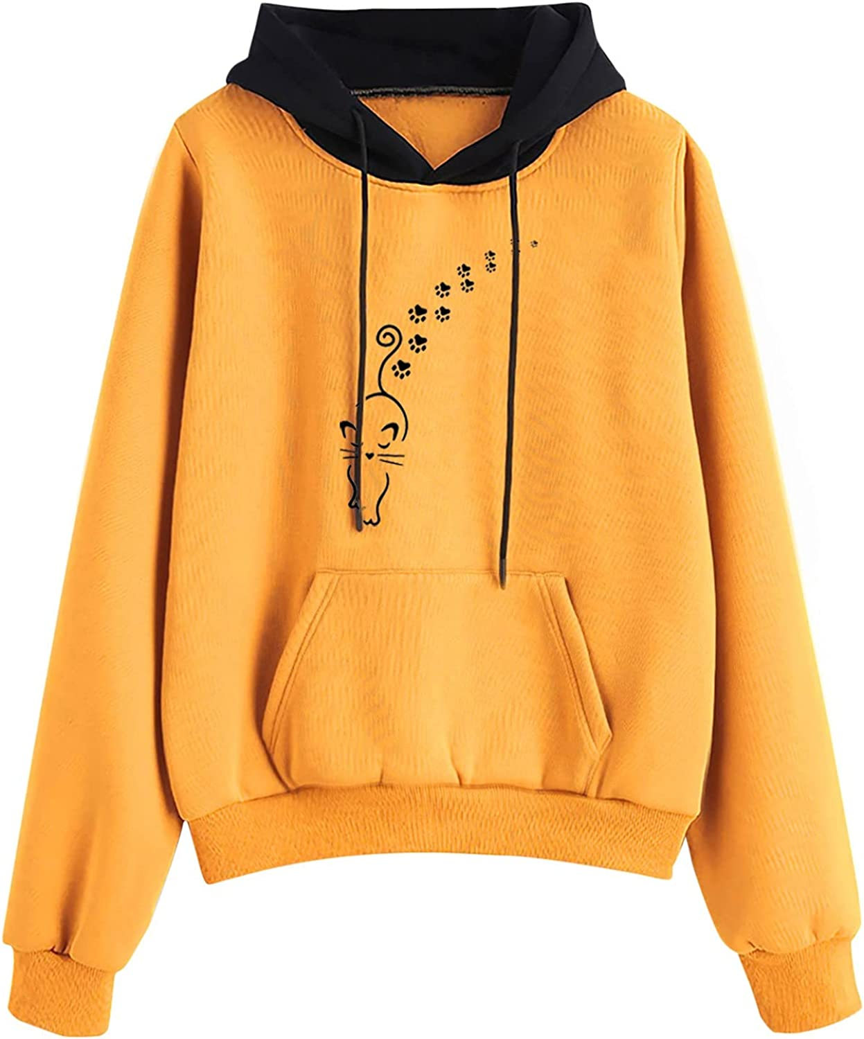 HIRIRI Loose Sweatshirts for Women Omaha Mall Bloc Challenge the lowest price of Japan ☆ Long Sleeve Casual Color