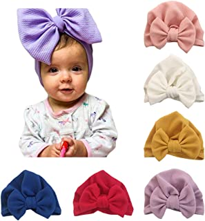 Baby Girl Hat with Rabbit Ears Bow Hat Toddlers Soft Turban Variety Knotted Hats Cap