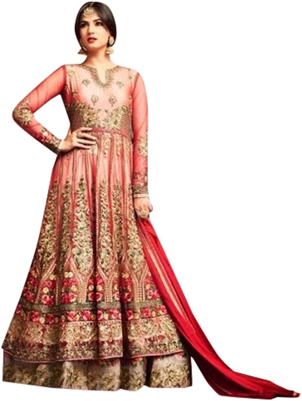 Bollywood Collection Anarkali Salwar Kameez Suit Ceremony Punjabi Muslin 639 9