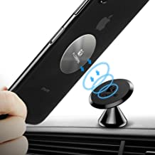 Magnetic Phone Car Mount Adhesive - FLOVEME 360° Rotate Magnet Cell Phone Holder for Car Panel Dashboard Hands Free Magnetic Phone Mount Compatible for iPhone Samsung and Most Mobile Phones (Black)