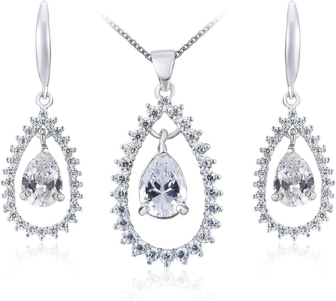 Wordless Love Glamorous Max 65% OFF Pear Shaped Bridal Cubic San Jose Mall Zirconia Jewelr