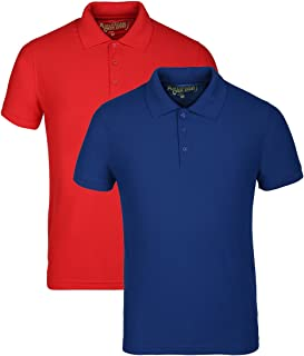 AMERICAN CREW Men's Polyester Honeycomb Dry Feel Polo T-Shirt (Pack of 2)