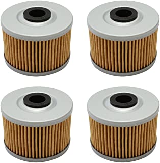 Cyleto Oil Filter For Honda ATC250ES Big Red 250 85-87 XL600 L 83-87 XR250 82-04 (Pack of 4)