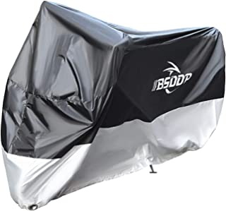 Funien 200 * 90 * 100 Motorcycle Cover with Keyhole– All Season Waterproof Outdoor Protection Against Dust, Debris, Rain a...