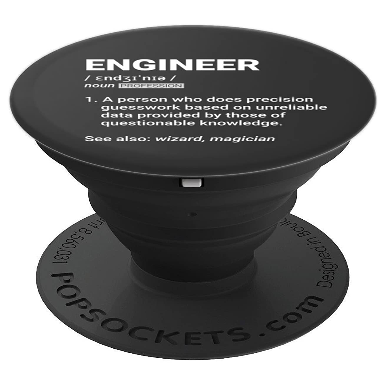 Engineer Definition | Geeky engineering gift - PopSockets Grip and Stand for Phones and Tablets