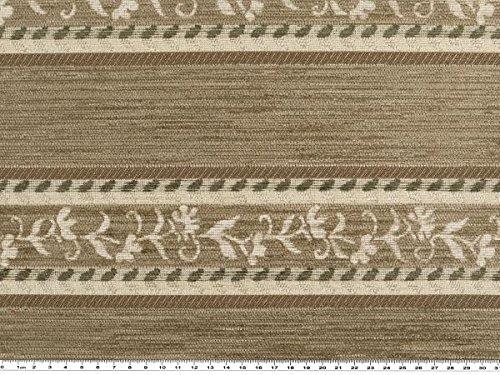 Mousse Plastique, chenille, bandes de fleurs, naturel/marron, 140 cm