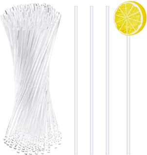 Dxhycc 100 Pieces 6-Inch Acrylic Lollipop Sticks Cake Pops Stick for Cake Pops, Cupcake Toppers, Candy, Dessert, Chocolate