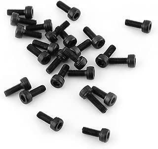 M8 x 20mm rosca completa tornillos de cabeza hueca hexagonal Tornillos Negro 25 piezas