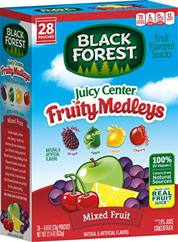Black Forest Black Forest Juicy Center Fruit Medley Fruit Snacks, 0.8 Ounce Bag, 28 Count