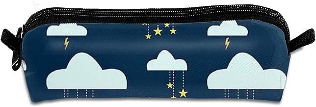 Diemeouk Pencil Case Cloud Rain Star Zippered Pen Bag Cosmetic Makeup Bags for Colored Watercolor Pencils