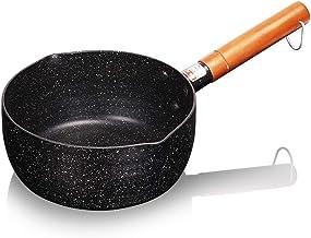 MSWL Pan, Hot Milk Pot, Non-stick Pan, Maifanshi Household, Baby Pot, Gas Cooker 18CM/20CM/22CM Pot (Color : Snowflake bla...