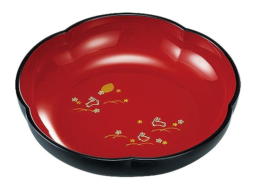 松子豚スキニー宮本産業 鉢 夢うさぎ 梅型 菓子鉢 22.5×22.5×5.7cm