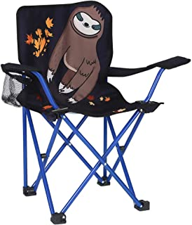 KABOER Kids Outdoor Folding Lawn and Camping Chair with Cup Holder, Sloth Camp Chair
