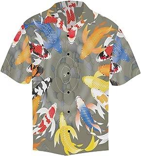 Men's Loose Summer Butterflies Pattern Short Sleeve Button Front Summer Printed Shirt for Men