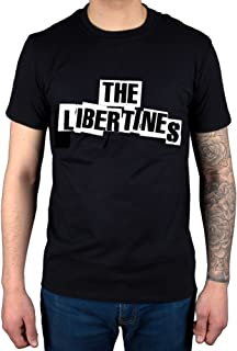 AWDIP Men's Official The Libertines Logo T-Shirt Rock Band Carl Barât Doherty Pete