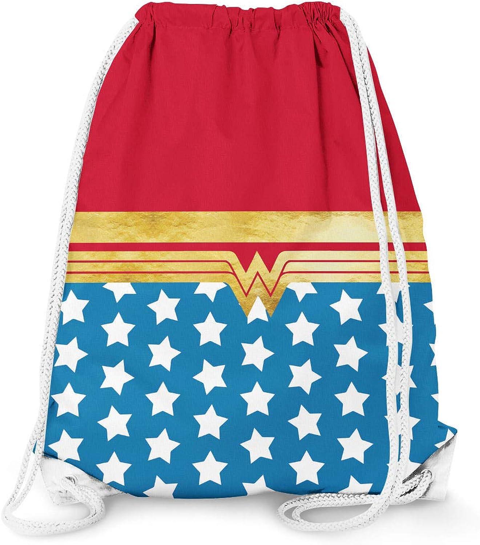 Wonder Woman Super Hero Inspired Drawstring Bag - Large (13.3 x 17.3)