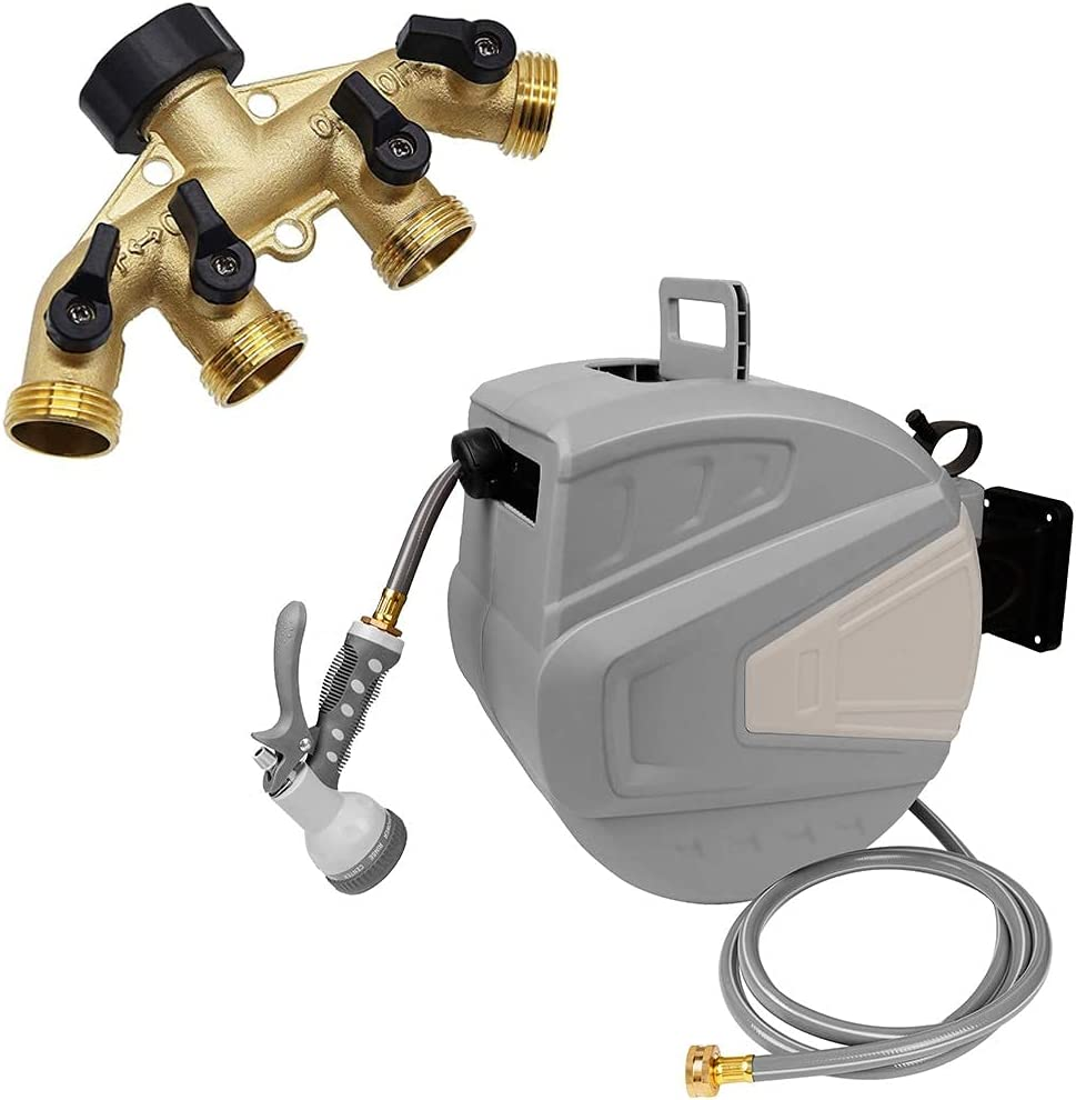 Twinkle Star NEW before selling Hose NEW before selling ☆ Splitter 4 Way Inch 1 2 Garden H Retractable
